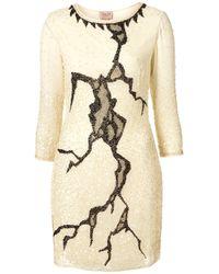 TOPSHOP   Natural Lightning Crackle Dress By Dress Up   Lyst