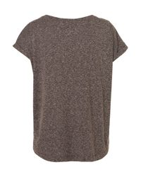 TOPSHOP - Gray Rib Cage Motif Tee - Lyst