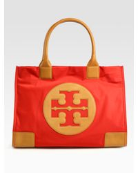 Tory Burch | Orange Ella Nylon & Leather Tote Bag | Lyst
