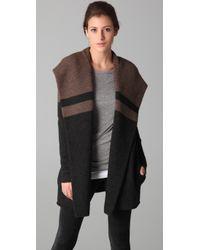 VINCE | Black Blanket Sweater Coat | Lyst