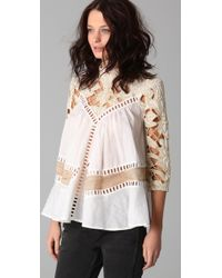 Zimmermann | Natural Calm Paneled Smock Top | Lyst