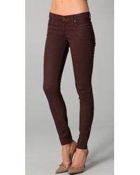 7 For All Mankind | Purple Shimmer Skinny Jeans | Lyst