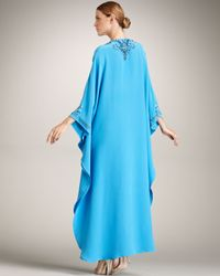 Emilio Pucci - Blue Embroidered Caftan - Lyst