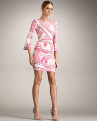 Emilio Pucci | Pink Square Neck Dress | Lyst