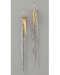 Gemma Redux | Metallic Plumb Bob and Chain Earrings | Lyst