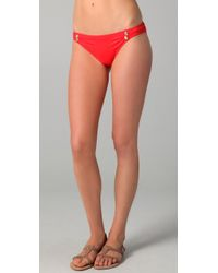 Juicy Couture | Red Miss Divine Cinched Bikini Bottoms | Lyst
