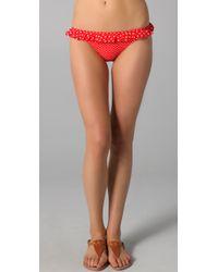 Juicy Couture | Red Pretty Polka Ruffle Flirt Bikini Bottoms | Lyst