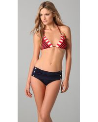 Juicy Couture | Red Sailor Girl Triangle Bikini Top | Lyst