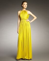 Lanvin - Yellow Rope-shoulder Gown - Lyst