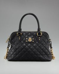 Marc Jacobs | Black Quilted Carmine Satchel | Lyst