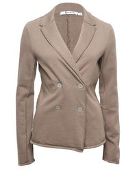 T By Alexander Wang | Gray Double-breasted Blazer | Lyst