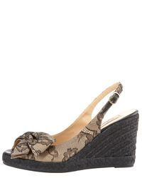 Valentino | Natural Mena Lace Bow Espadrille Slingback | Lyst