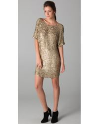 VINCE | Metallic Sequined Dress | Lyst