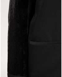 ASOS Collection - Black Asos Curve Jacket with Sequin Sleeve - Lyst