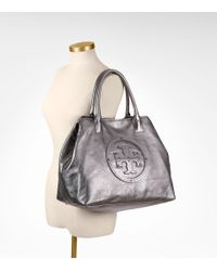 Tory Burch - Metallic Stacked Logo Classic Tote - Lyst