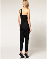 ASOS Collection | Red Jumpsuit with One Shoulder Detail | Lyst