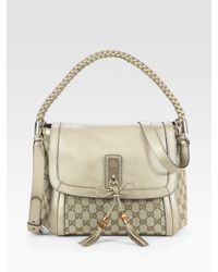 Gucci | Metallic Bella Medium Shoulder Bag | Lyst