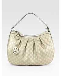 Gucci | Sukey Gg Medium Metallic Hobo Bag | Lyst