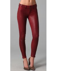 J Brand | Red Leather Skinny Pants | Lyst