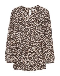 Steven Alan | Brown Cindy Silk Leopard-print Top | Lyst