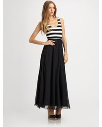 Alice + Olivia | Black Laken Long Tank Dress | Lyst