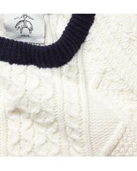 Black Fleece By Brooks Brothers - White Cable Knit Sweater for Men - Lyst