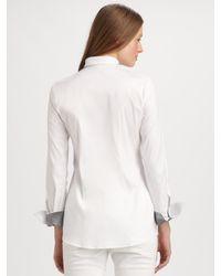Brunello Cucinelli - White Cotton Blouse - Lyst