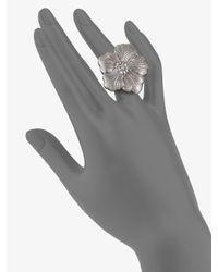 Buccellati - Metallic Blossom Sterling Silver Ring - Lyst