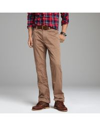 J.Crew | Natural Broken-in Chino in Bootcut Fit for Men | Lyst