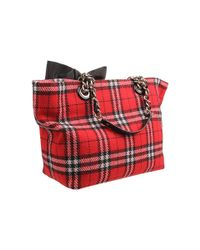 kate spade new york - Red Fireside Plaid - Small Coal Shoulder Bag - Lyst