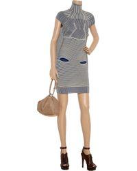Peter Pilotto | Blue Turtleneck Woven Dress | Lyst