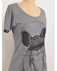 Simeon Farrar | Gray Kate Mouse Grey T Shirt Dress By | Lyst