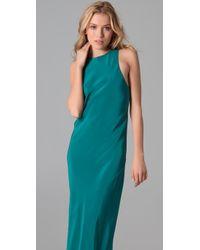 Tibi - Blue Sleeveless Gown - Lyst