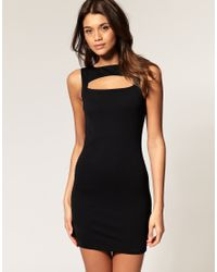 ASOS Collection | Black Asos Mini Dress with Cage Back | Lyst