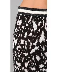 Cut25 by Yigal Azrouël - Black Long Skirt with Slit - Lyst