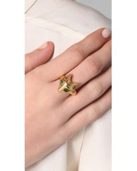 Elizabeth and James - Metallic Fox Green Tourmaline Ring - Lyst
