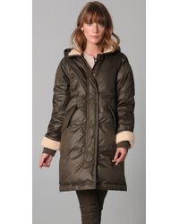 Marc By Marc Jacobs | Green Earhart Puffer Coat | Lyst