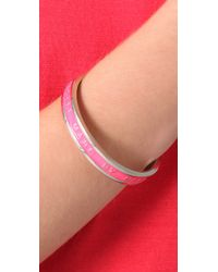 Marc By Marc Jacobs - Pink Classic Marc Logo Bangle - Lyst