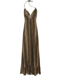 Melissa Odabash | Black Barrie Cheetah-print Jersey Maxi Dress | Lyst