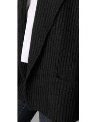 Vince - Black Shawl Collar Car Coat - Lyst