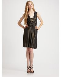 Ella Moss - Black Aurora Metallic Dress - Lyst
