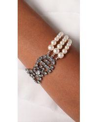 Tom Binns - Metallic Petite Rouge Crystal & Pearl Bracelet - Lyst