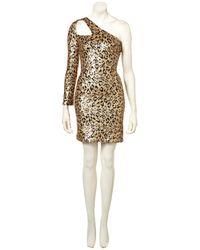 TOPSHOP - Metallic Leopard Sequin Strap Dress. - Lyst