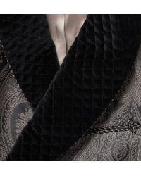 Turnbull & Asser - Black Woven Paisley Dressing Gown for Men - Lyst