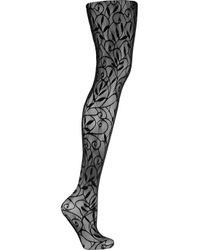Wolford | Black Lace Art Tights | Lyst