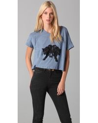 Elizabeth and James | Blue Panther Tee | Lyst
