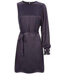 French Connection - Purple Sassy Sparkle Asymmetric Dress - Lyst