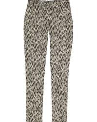 Lela Rose   Black Sam Cotton-blend Jacquard Bootcut Pants   Lyst