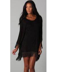 L*Space | Black Ava Beach Poncho | Lyst