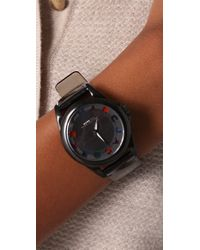 Marc By Marc Jacobs | Black Dreamy Logo Bubble Strap Watch | Lyst